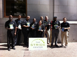 A few students getting the word out about Stride