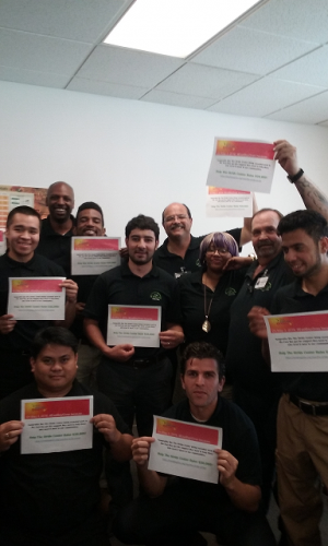 A+ class helping to raise awareness of the Stride Center's pathway to career training program